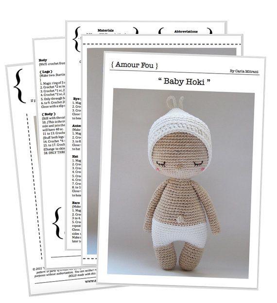 Hoki - Crochet Pattern by {Amour Fou} | Baby | Pinterest | Patrón de ...