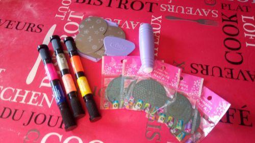 Lot-Manucure-Nail-Art-Tampons-Stylo-Nail-Art-Stamping
