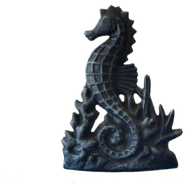 Cast Iron Rustic Seahorse Doorstop 8 Nautical Sea Horse Door Stops Sea... ($40) ❤ liked on Polyvore featuring home, home decor, black, home & living, home décor, ornaments & accents, cast iron home decor, black home decor, cast iron door stopper and handmade home decor