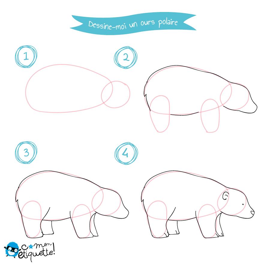 Tutoriel animaux p le nord dessin dessiner p le nord et dessin - Comment dessiner un ours ...