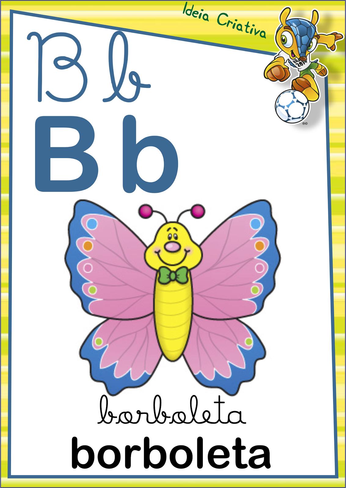 Alfabeto Letra Cursiva E Letra Bast O Copa Do Mundo Para Imprimir  -> Desenhos Para Alfabeto Ilustrado
