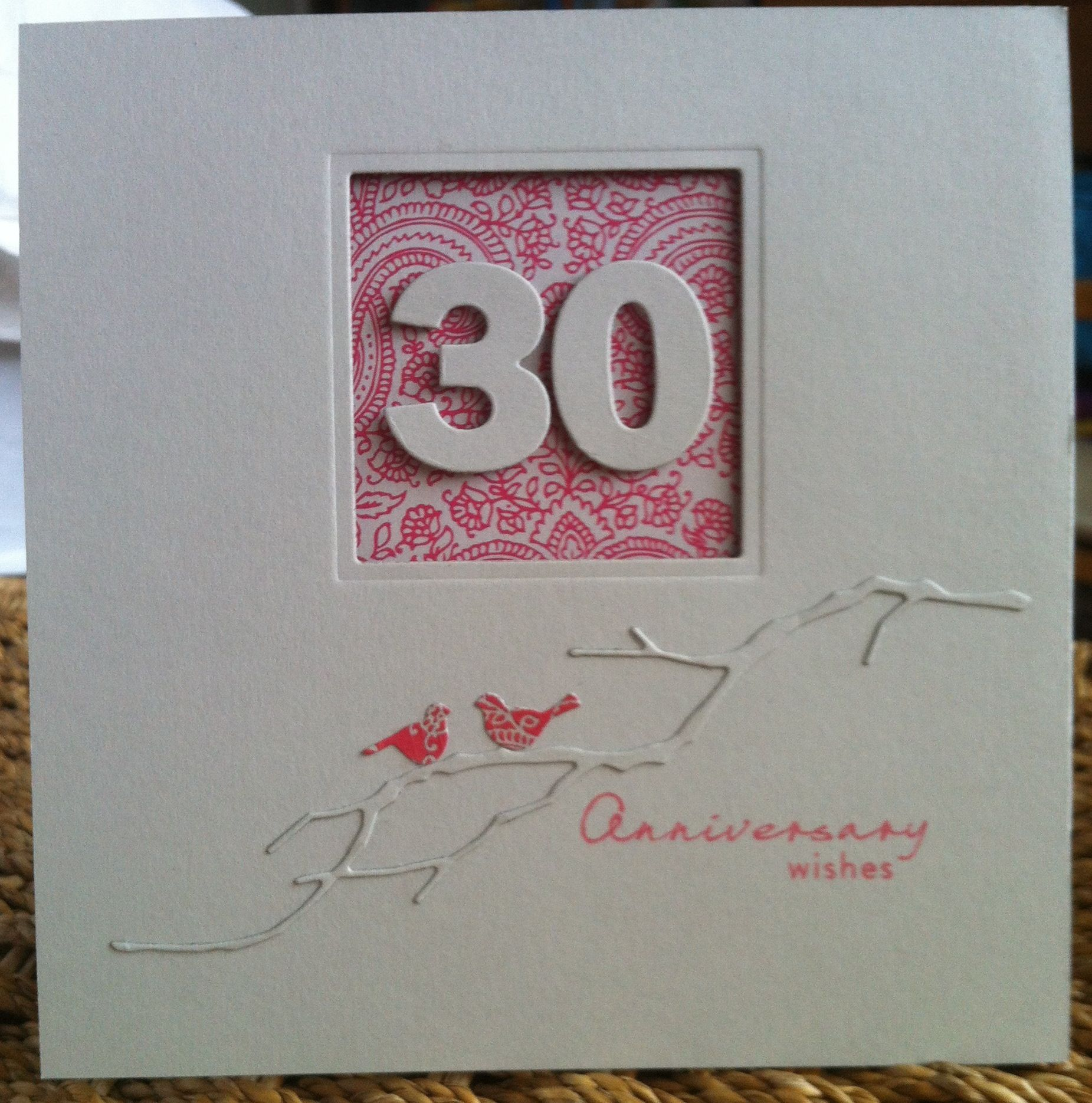 Non-traditional 30th Wedding Anniversary Card, Die-namics