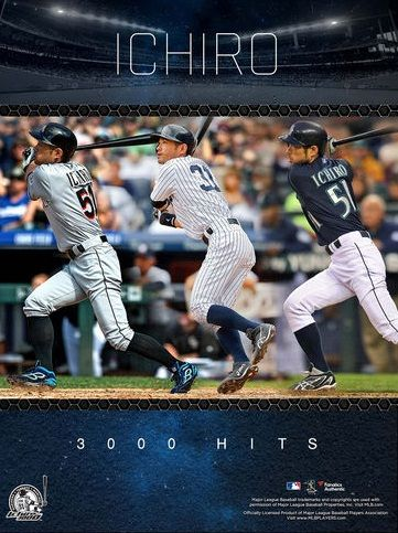 Ichiro Suzuki 3000 Hits. | Major League Baseball | Pinterest ...