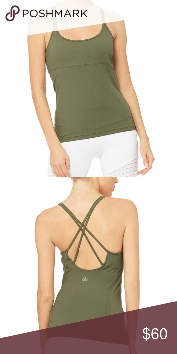 One Size Alo Yoga Womens Workout Green