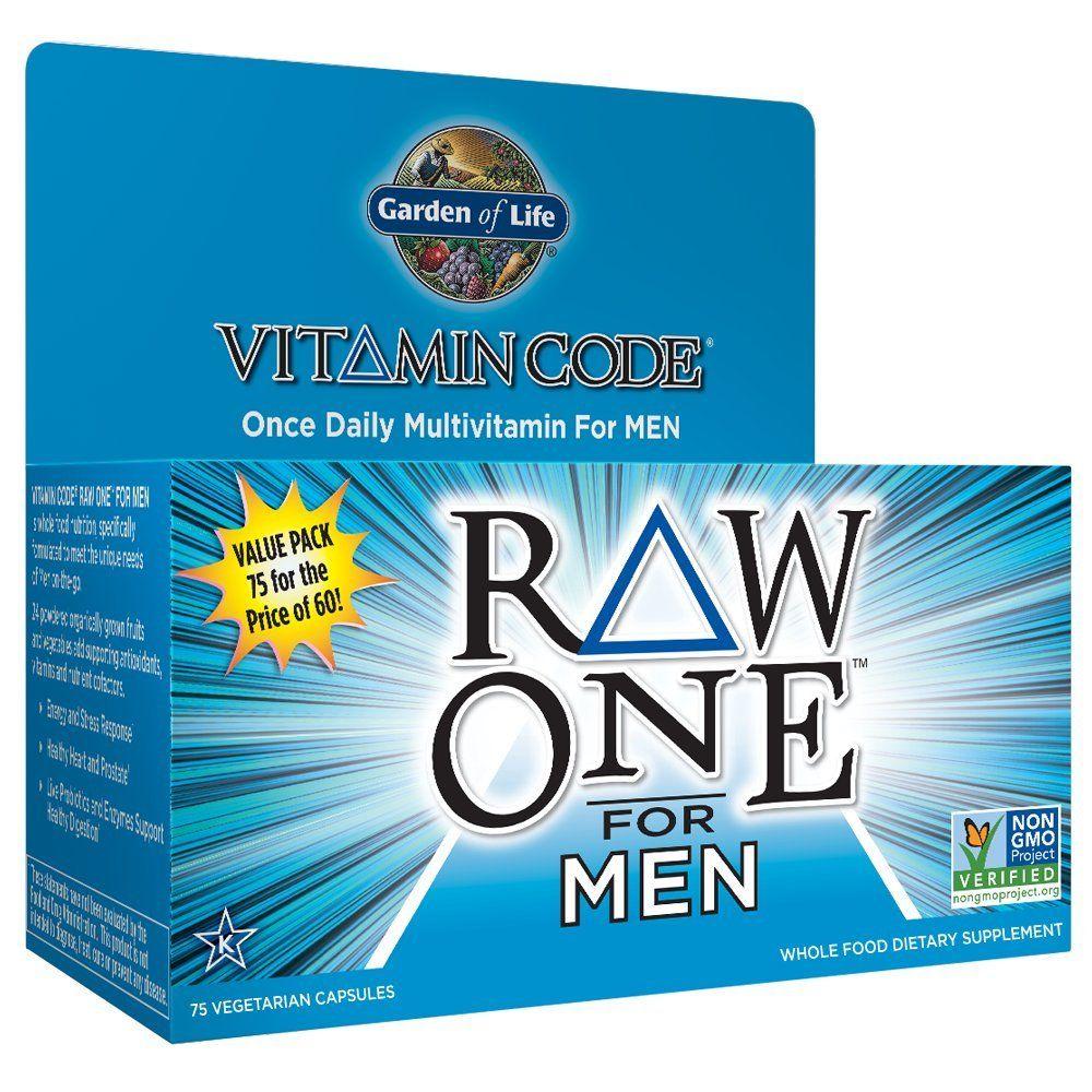 Garden of life multivitamin for men vitamin code raw one