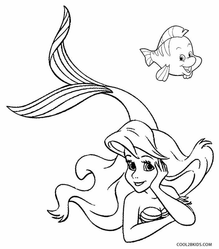 Printable Mermaid Coloring Pages For Kids Cool2bKids Drawing - fresh free coloring pages of a kite