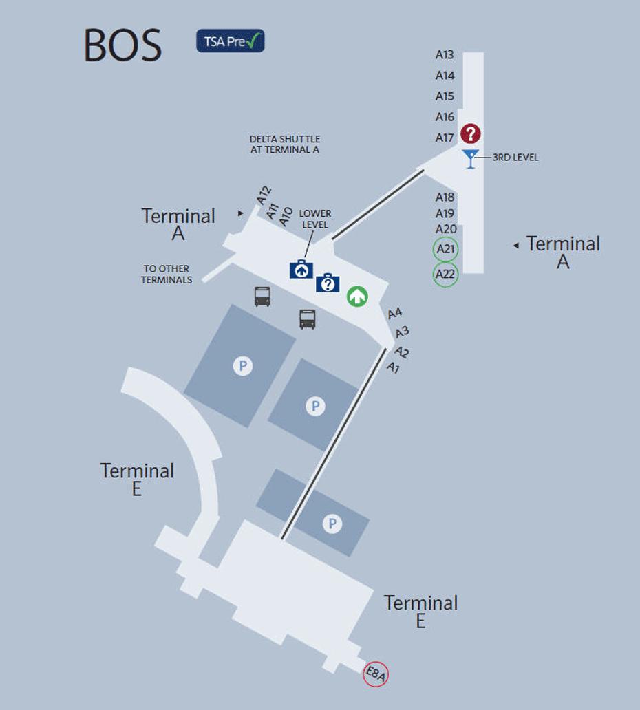 Boston Airport Map in 2019 Logan international airport