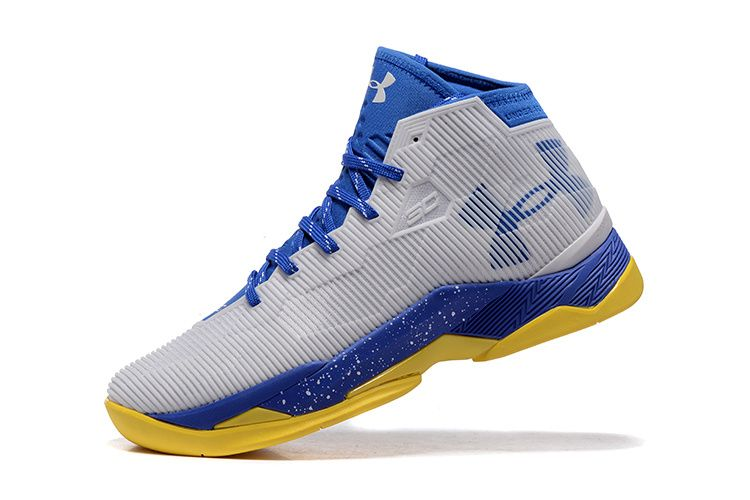 under armour curry 2.5 white blue yellow cheap new mens shoes � Stephen  Curry ShoesKevin Durant ...