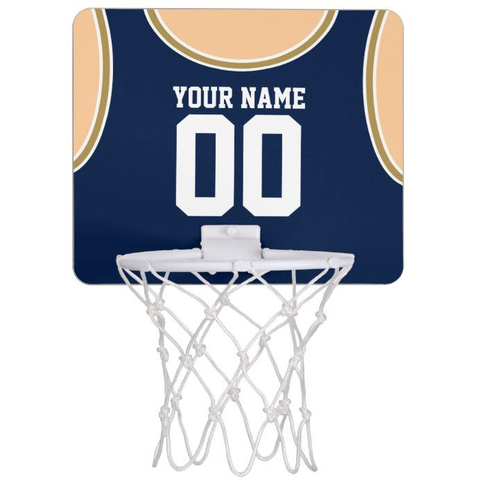 Custom Name/Number Mini Basketball Hoop   Zazzle.com in ...