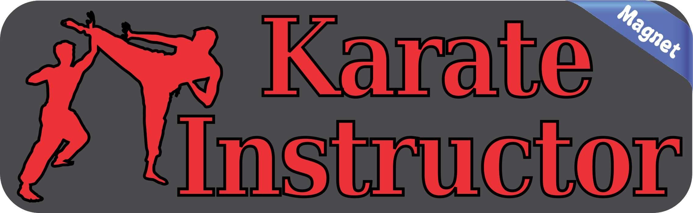 10in X 3in Karate Instructor Magnet Car Door Magnetic Truck Sign Magnets Karate Instructor Bumper Stickers Karate [ 700 x 2275 Pixel ]