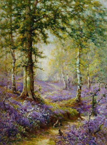 The Bluebell Wood By Alfred De Breanski Custom Wall