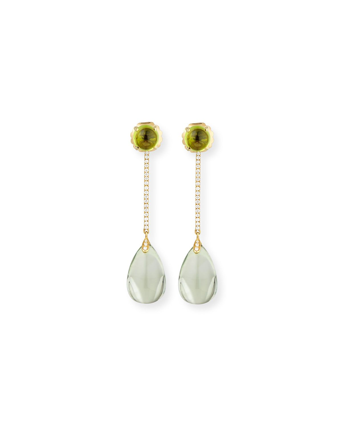 Goshwara Naughty 18K Gold Prasiolite Drop Earrings bftpRC51Wg