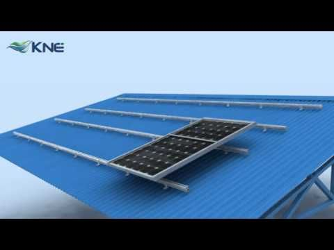 Kne Metal Roof Mounting System Km B Series For Solar Panels Solar Panels Metal Roof Solar Panel Installation