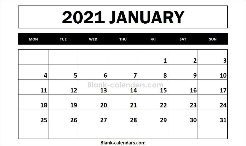 Free Printable 2021 Calendar January Online Calendar 2021 Calendar Calendar 2020