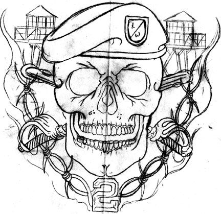 Military Skull Tattoo Design photo - 1 | Exercito Tattoo ...