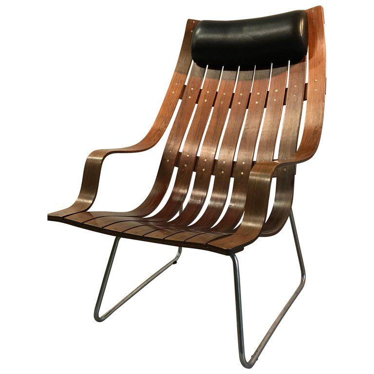 Hans Brattrud Scandia Lounge Chair Norwegian Design Chair Teak
