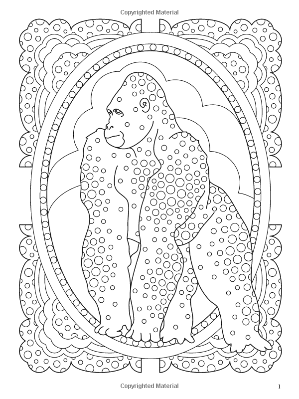 Wildlife Designs To Color Kelly Montgomery 9780486481265 Amazon