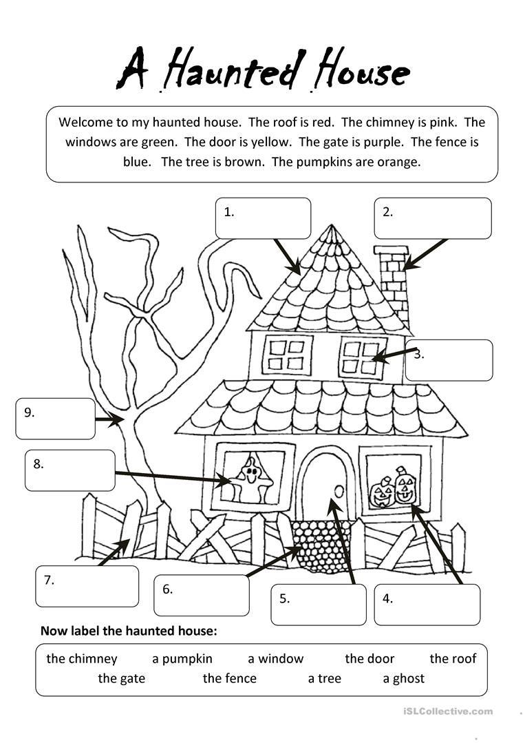 A Haunted House worksheet - Free ESL printable worksheets made by ...