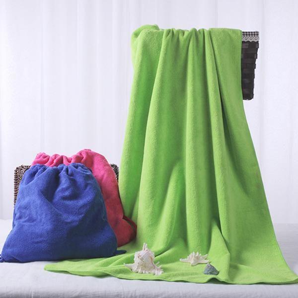 70x140cm Multifunctional Foldable Bath Towel Microfiber Soft