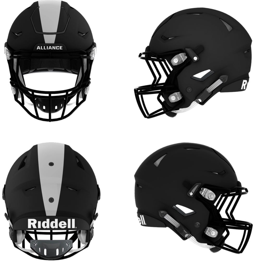 AAF Debuts New Uniforms (With images) Football helmets