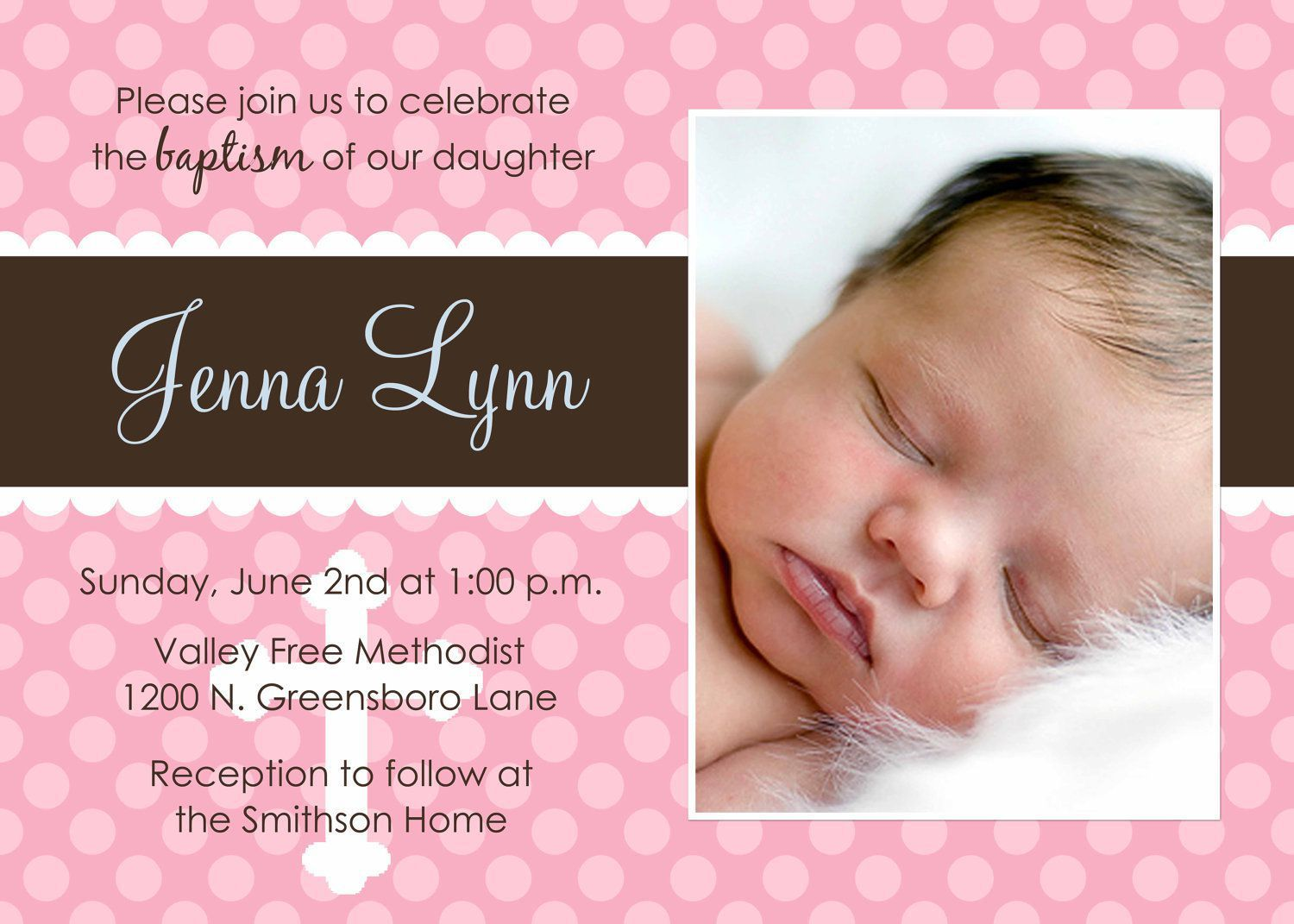 You are invited to attend the Christing of my daughter BEEMNET ...