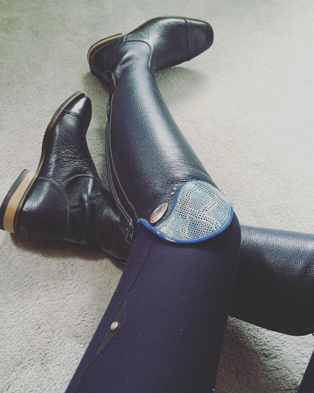 DeNiro navy blue riding boots. Dressage/ show jumping ...