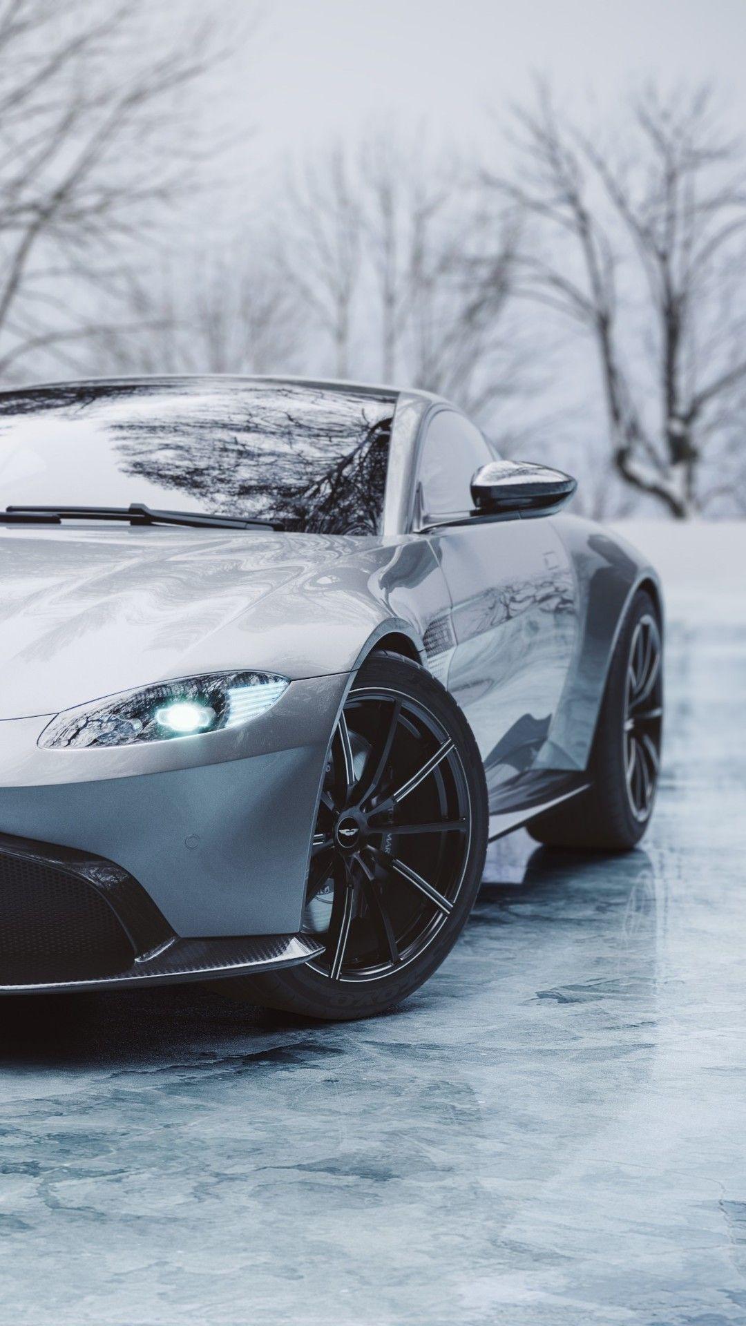 Ice Cold Aston Martin Vantage In 1080x1920 Resolution Aston Martin Vantage Aston Martin Cars Aston Martin