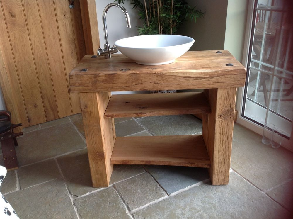 Bathroom Sinks On Ebay oak wash stand | wash stand, sinks and bath
