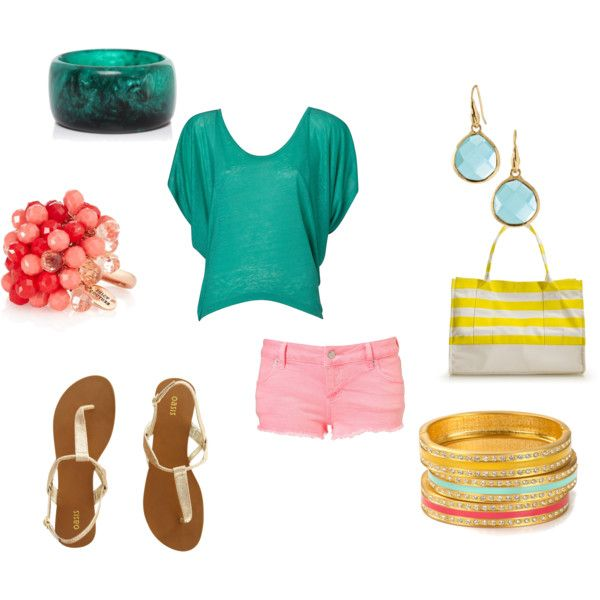 breezy summer outfit, created by buffykate on Polyvore