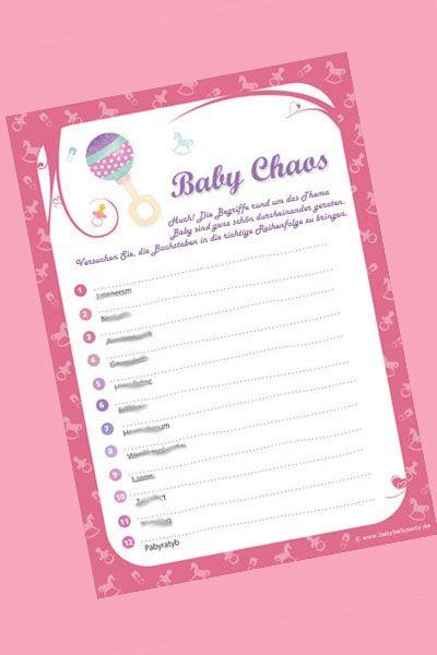 baby shower spiel baby chaos buchstabensalat baby pinterest babyparty baby geschenke und. Black Bedroom Furniture Sets. Home Design Ideas