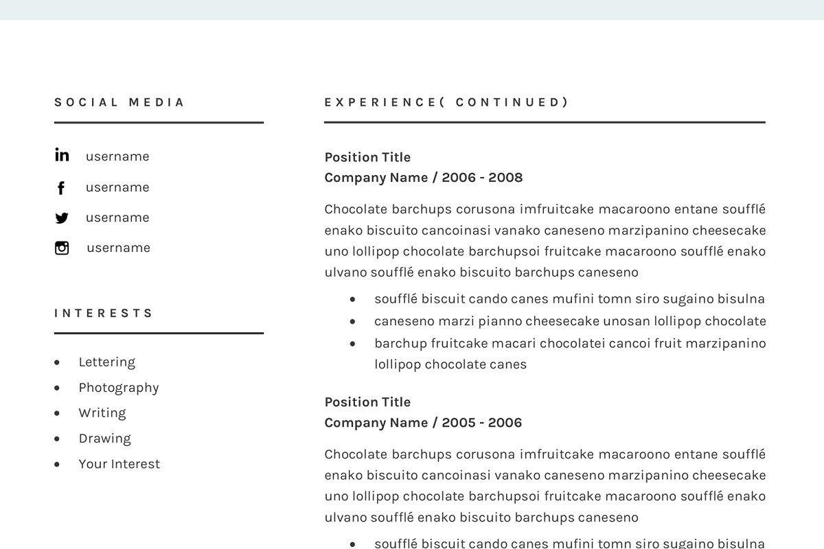 Resume Cv Template For Word Cv Template Resume Cv Cover Letter Template