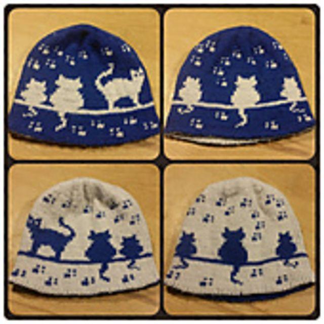 Herding Cats Double Knit Hat Pattern By Karen Buhr Knit Hats