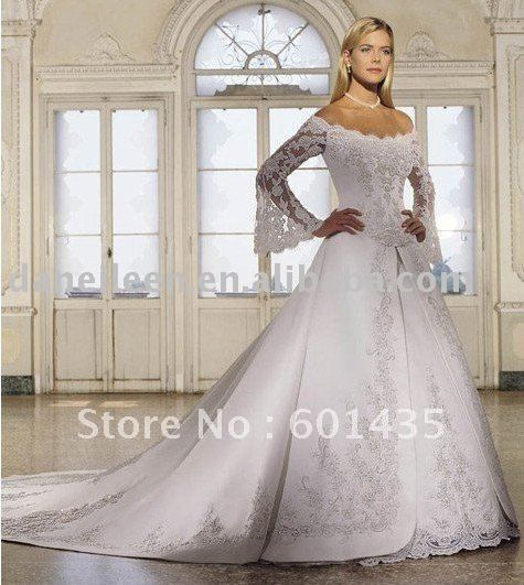 Find More Wedding Dresses Information About Freeshipping Wr1706 Victorian Bling Vintage Lace Long Sleeve Plus Size Gowns High Quality Dress Women
