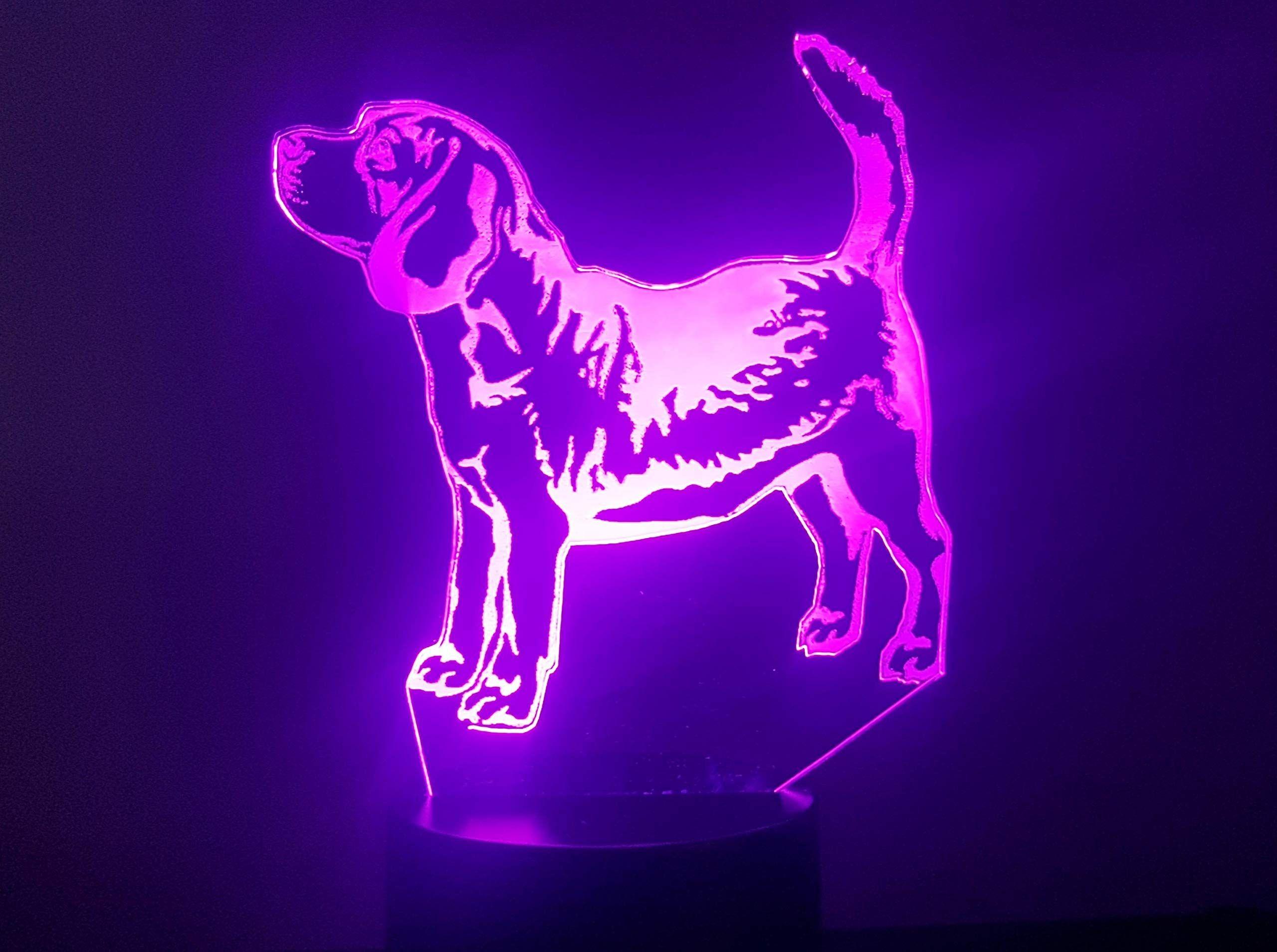 Beagle Hund 3d Lampe Led Hund Beagle Led Lampe Beagle Neon Signs Neon