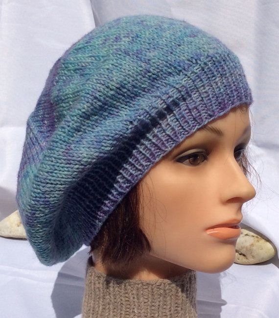 Get ready for Fall with a new Knitted Blue Beret!  Just added to my shop! $28 plus shipping