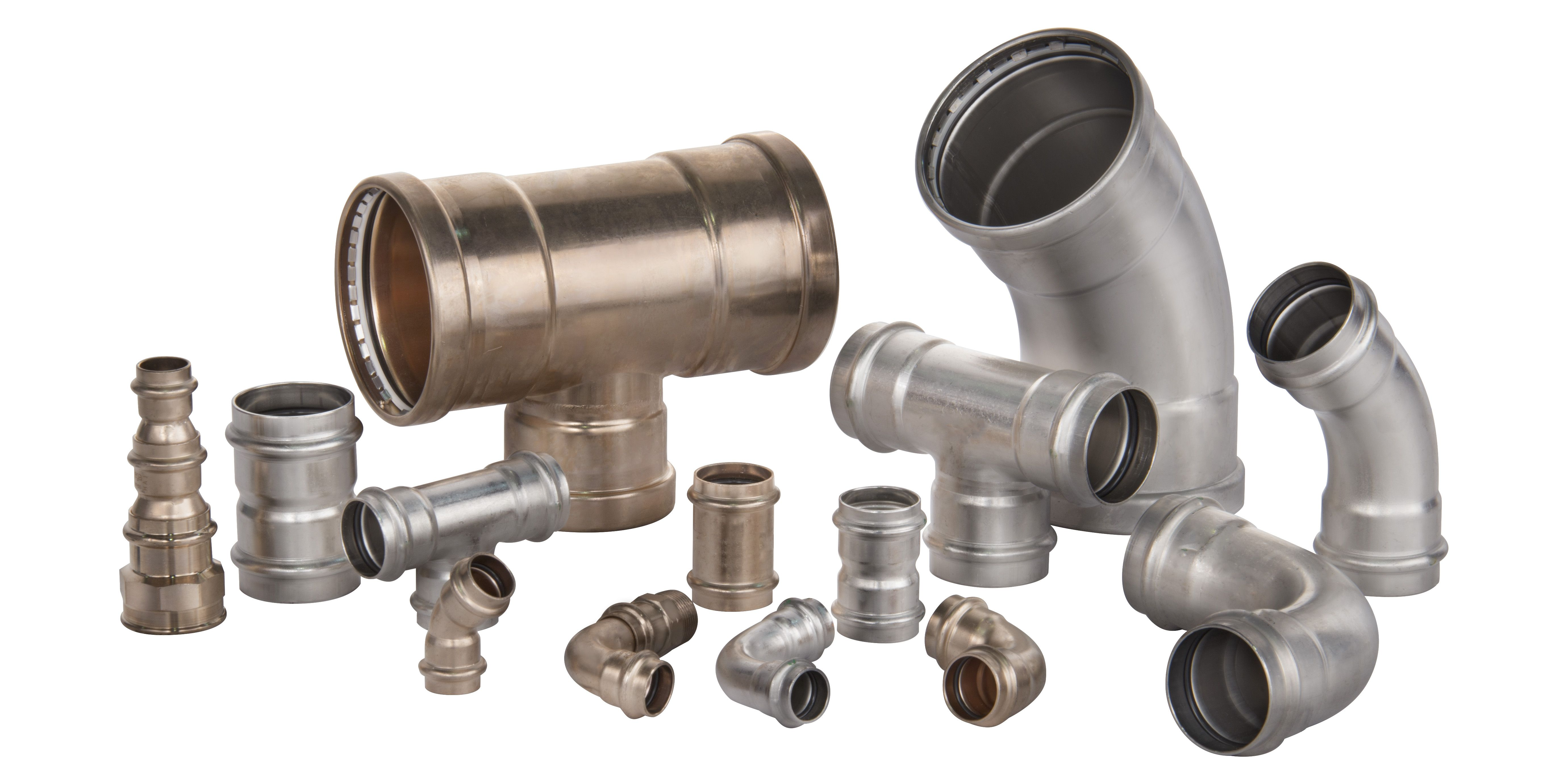 World Wide Metric Offers Viega Press Fittings In Copper Nickel Bronze Stainless Steel And Copper Materials Copper Material Bronze Fittings