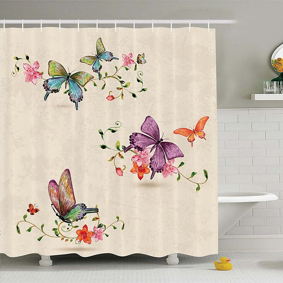 Ambesonne Butterfly 70 Inch Shower Curtain Butterfly Shower