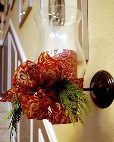 Decorating Sconces For Christmas - High School Mediator