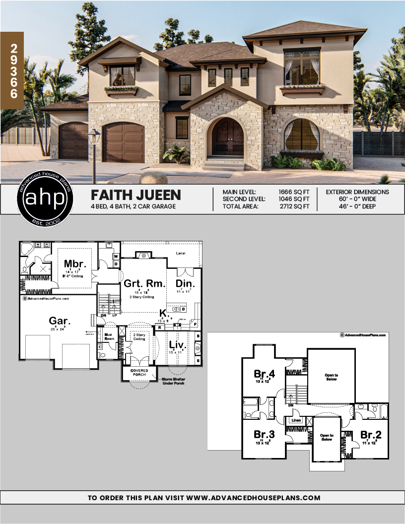 1 5 Story Mediterranean House Plan Faith Jueen Mediterranean House Plan Mediterranean House Plans Model House Plan