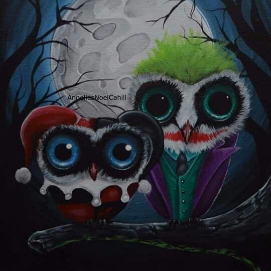 Owl Joker And Harley Cool Nerd Stuff Pinterest