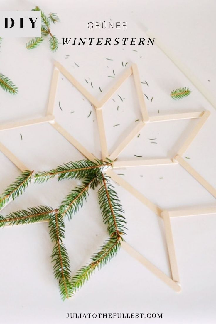 DIY - green winter star with template | Julia to the Fullest
