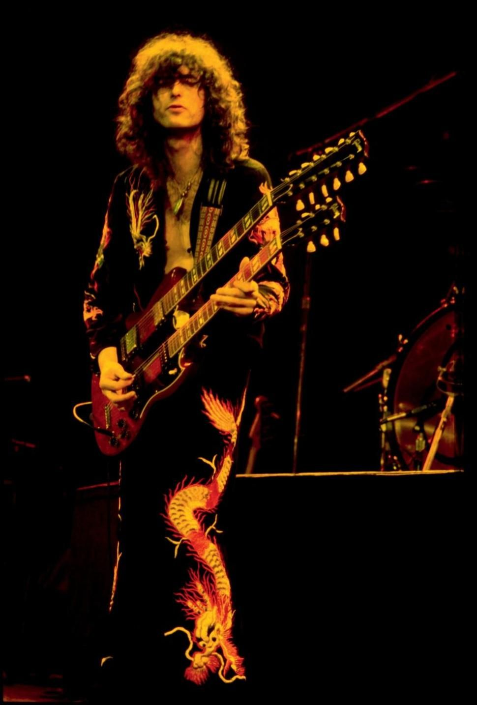 Led Zeppelin guitarist Jimmy Page riffs with News