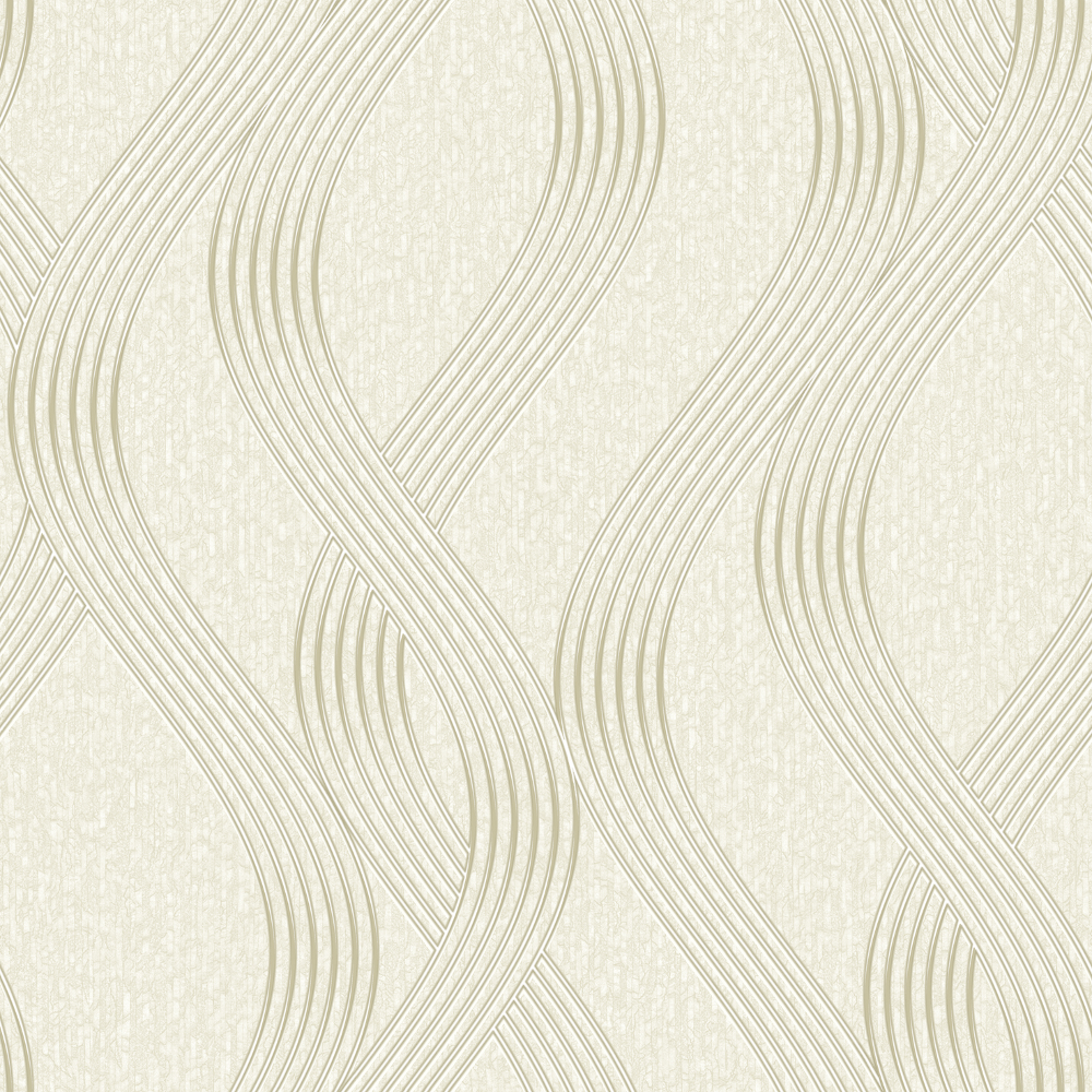 Sofia Wave Pattern Heavyweight Vinyl Cream Wallpaper Cream Wallpaper Contemporary Wallpaper Designs Wave Pattern
