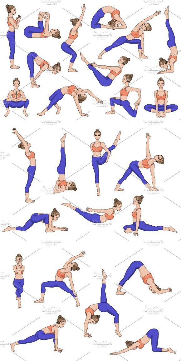 25 Yoga poses. Part 3