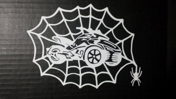 Can Am Spyder F3 Spider Web Vehicle Decal Sticker Can Am
