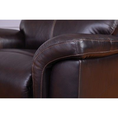 Fabulous 3Pc Maxwell Top Grain Recliner Leather Reclining Set Brown Unemploymentrelief Wooden Chair Designs For Living Room Unemploymentrelieforg