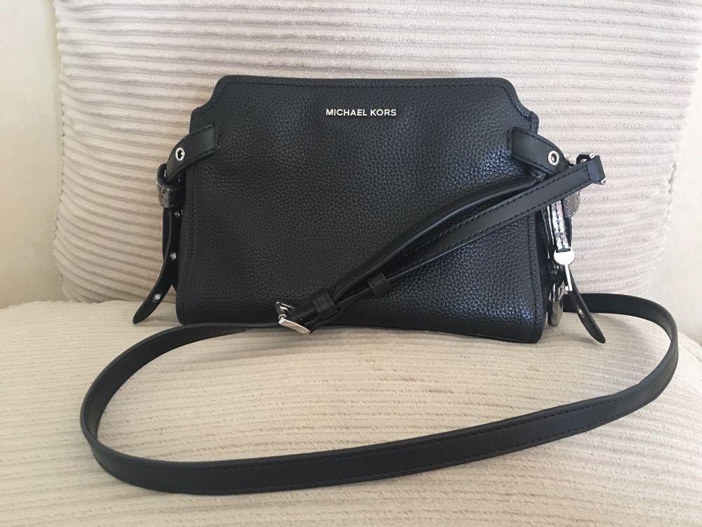 Michael Kors - Crossbody Bristol Pebbled Leather Medium Messenger Handbag  Black  fashion  clothing  shoes  accessories  womensbagshandbags (ebay link) 4318627b2b81a