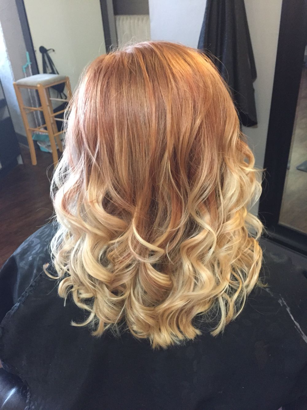 Strawberry Blonde Ombre Strawberry Blonde Ombre Baylage Hair Brown Hair Tones
