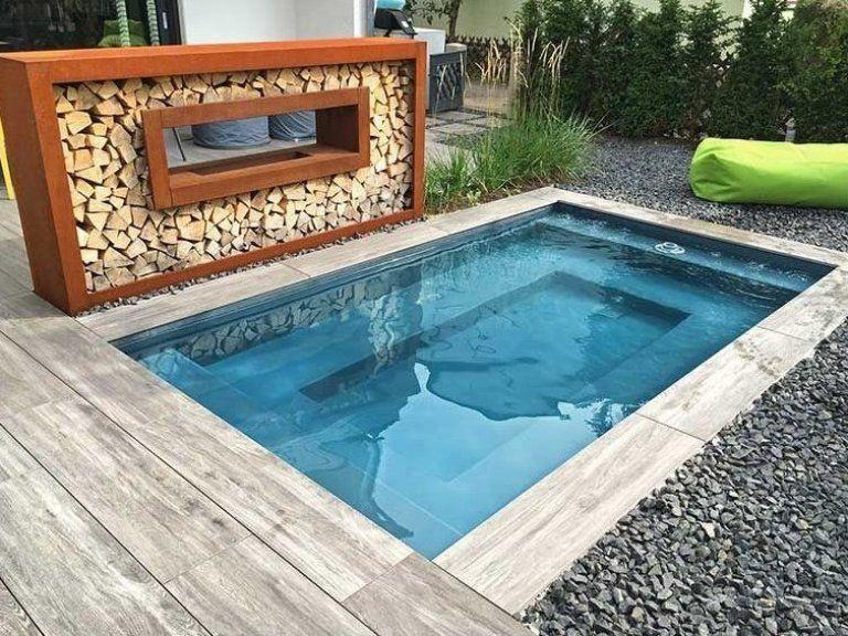 Kleiner Pool Im Garten Pool F R Kleine Grundst Cke Garten Gartenlounge Gartenpaletten Sitzeckegarten Small Pools Garden Pool Small Pool