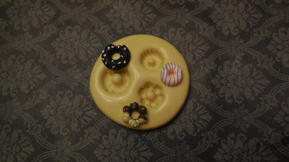 Donut Molds, Silicone Mold, Molds, Baking Molds, Jewelry Molds, Cake Molds, Cake Pops, Charms, Jewelry, Gifts, Putty, Cupcake Molds